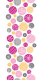 Abstract textured bubbles vertical border seamless Stock Image