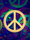 Abstract textured collage - Peace Background Stock Photography
