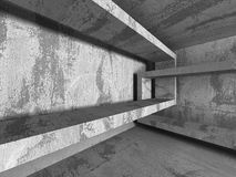 Abstract textured concrete empty room interior background. 3d render illustration Stock Image