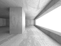 Abstract textured concrete empty room interior background. 3d render illustration Royalty Free Stock Photo