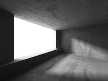 Abstract textured concrete empty room interior background. 3d render illustration royalty free illustration