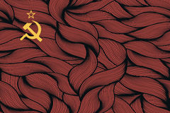 Abstract textured flag of Soviet Union Royalty Free Stock Image