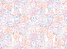 Abstract  textured floral seamless pattern. Geometric fabric ori Royalty Free Stock Photos