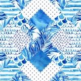 Abstract textured geometric seamless pattern Stock Photos