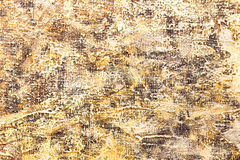 Abstract textured hand painted background with yellow and brown Stock Image