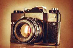Abstract textured image of vintage camera Royalty Free Stock Image