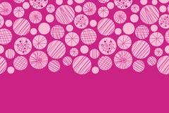 Abstract textured pink circles horizontal border Royalty Free Stock Images