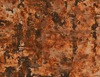 Abstract textured rust metal surface background Royalty Free Stock Image