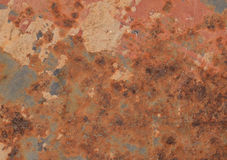 Abstract textured rust metal surface background Stock Photos