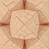 Abstract Textured Wooden Geometrical Tangram Stock Image