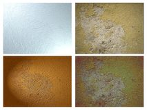 set of Abstract textures isolated Royalty Free Stock Photo