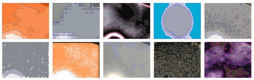set of colorful Abstract textures isolated Royalty Free Stock Photo