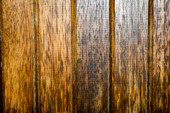 Abstract Textures: Aging Varnished Wood Slats of a Gate royalty free stock image