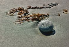 Abstract textures on the beach at kittery maine stock image