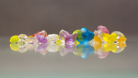 Abstract textures of broken jelly balls with reflexions Stock Photography
