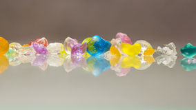 Abstract Textures Of Broken Jelly Balls With Reflexions Royalty Free Stock Photo