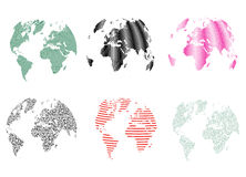 Abstract Textures Pattern World Globe Changeable Colors Stock Image