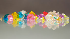 Abstract textures and patterns of broken jelly balls Stock Image