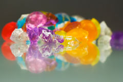 Abstract textures and patterns of broken jelly balls Royalty Free Stock Images
