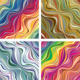 Abstract textures with wavy lines Stock Images