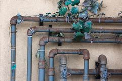 Abstract texured backdrop. // industry, iron, metal, piping, rust Stock Photography