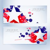 Abstract 4th of july banners. Vector stock illustration