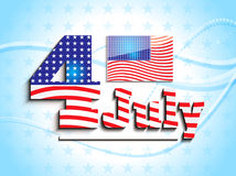 Abstract 4th july concept Stock Photo