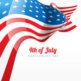 Abstract 4th of july. Flag style background Stock Image
