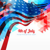 Abstract 4th of july. Vector abstract style 4th of july background stock illustration