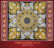 Abstract thai tradition cover Royalty Free Stock Images