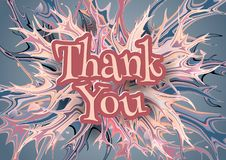 Abstract thank you banner. royalty free illustration