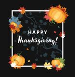 Thanksgiving vector holiday card Royalty Free Stock Photos