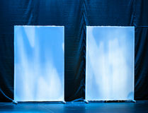 Abstract theatrical scenery stand on the stage Stock Images
