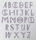 Abstract Thin Letters. Abstract Thin Alphabet. Abstract Type Font Royalty Free Stock Images