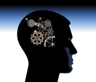 Abstract thinking mechanical Royalty Free Stock Image