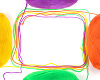 Abstract thread frame. Stock Photo