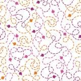 Abstract thread stitches seamless pattern Stock Photos