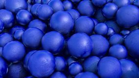Abstract three-dimensional background of blue spheres with texture. 3d render. Illustration stock photo