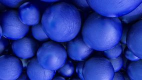 Abstract three-dimensional background of blue spheres with texture. 3d render. Illustration royalty free stock images