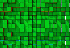 Abstract  three-dimensional cubes  background Royalty Free Stock Images