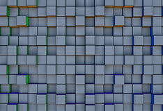 Abstract  three-dimensional cubes  background Stock Photography