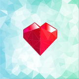 Abstract three-dimensional origami heart triangles Stock Image