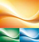 Abstract three waives.  illustration Stock Photo