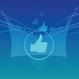 Abstract Thumbs Up Background. Blue abstract thumbs up background Stock Image