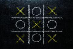 Abstract Tic Tac Toe Game Competition. XO Win Challenge Concept stock photo