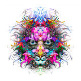 Abstract tiger. Abstract colorful illustration of tiger Stock Illustration