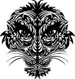 Abstract tiger face Stock Photos