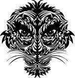 Abstract tiger face Stock Photos