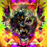 Abstract Tiger Head Royalty-vrije Stock Afbeelding