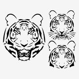 The  abstract tiger head set Stock Photos